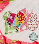 Raggedy Love Applique Head ~ Love with Heart Applique